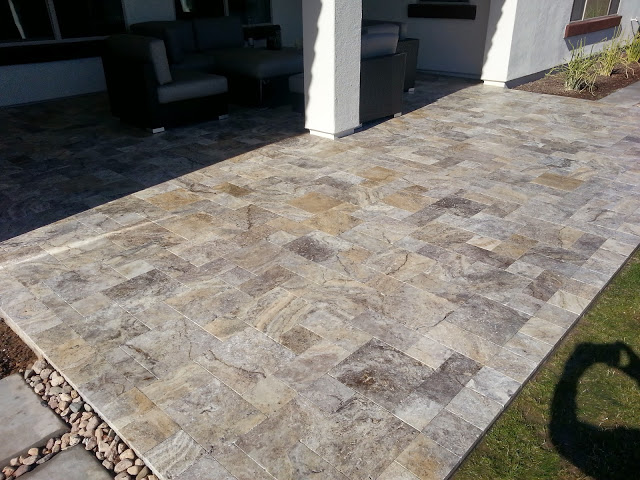 Silver Travertine Pavers Imagine Architectural Concrete