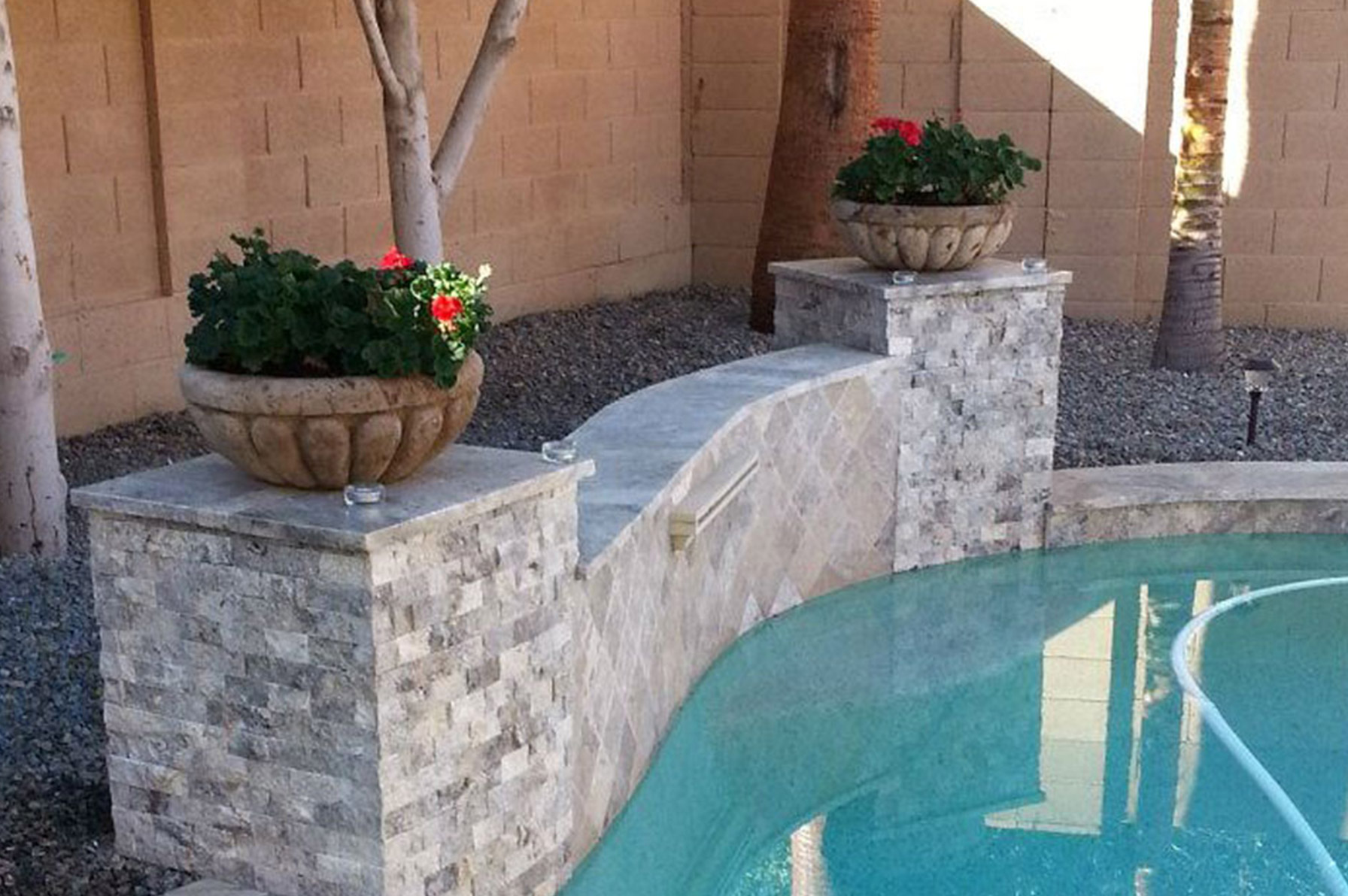 Silver Travertine Pavers Imagine