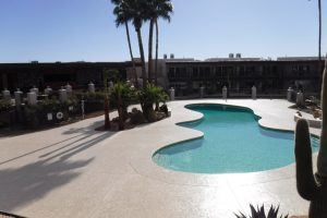 Resurfacing Carefree Resort Pool Deck