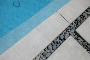 Modern Concrete Pool Deck in Tempe, AZ