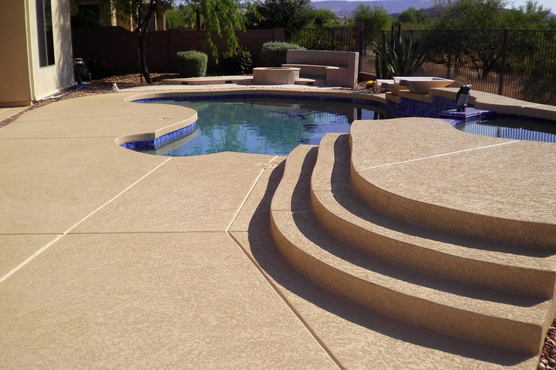 What Is Acrylic Lace Pool Decking Imagine Architectural Concrete