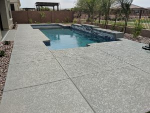 Grey Pool Deck